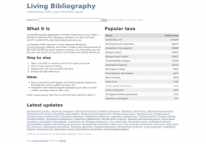 Living Bibliography Home Page